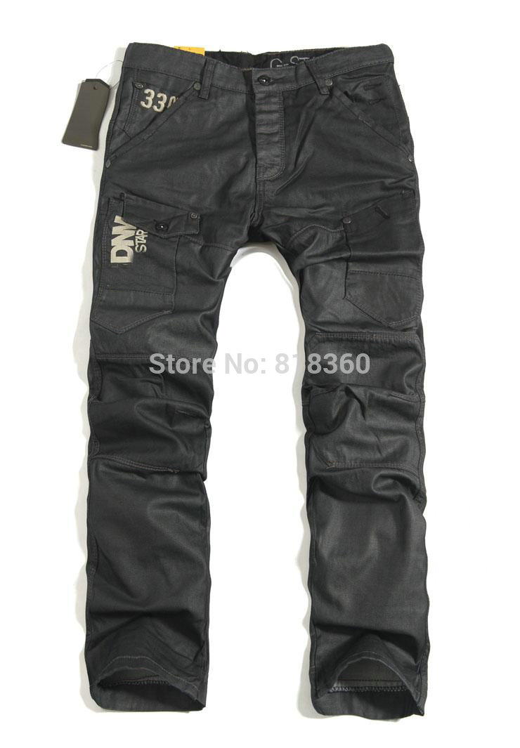 New 2014 Fall Fashion New Men's Jeans Pure Black Men Jeans Casual Relaxed Cool Minimalist Men's Jeans Men Brand Straight Jeans(China (Mainland))