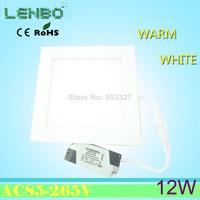 2PCS/LOT 12W Ultra thin LED Panel Light 900LM SMD2835 LED Ceiling Light Recessed light Down light Pure White led bulb LP2
