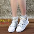 ON SALE! 2014 autumn canvas shoes female color block zipper decoration denim flat casual breathable high