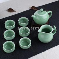 chinese   Longquan celadon    kung fu tea set