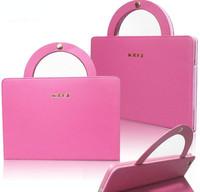 Free Shipping for ipad 2/3/4 portable sleep protective sleeve /For ipad 2/3/4 leather briefcase /For ipad 2/3/4 leather bag