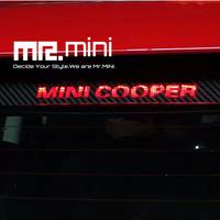 MINI COOPER Compass Top Brake Light Sticker Brake Lamp Sticker Stoplamp Stoplight Sticker Carbon Fiber Decorative Design