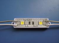 2pcs  SMD5050 LEDs  LED Modules Waterproof IP68 DC12V Warm White/ Pure White  Rectangle  Shape Free ship