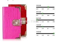 Luxurious Lizard grain leather paste Diamond Holster case for Apple Iphone 5/5S/5C/4/4S
