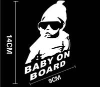 Car sticker for baby on board baby reflective car stickers warning car sticker hangback rear window Baby on Board free shipping