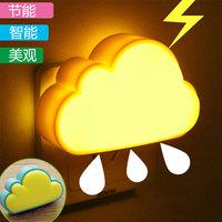 Clouds muid light control nightlight intelligent mini bedside lamp led light control lamp