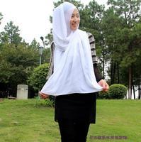 OUMEINA muslim lady scarf   bandanas hijab tudung bawal pearl chiffon plain dyed  RG009