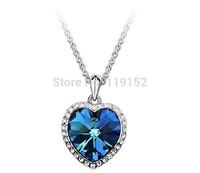 Zircon heart Titanic ocean Heart Necklace Woman Luxurious Paragraph fashion Pendant Necklaces
