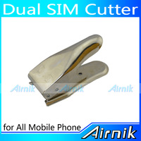 Silver Universal 2 in 1 Sim Micro Sim Nano Sim Card Cutter Cutting 3 Type Sim Card Adapter
