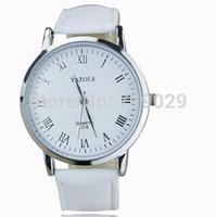 Vogue  Leather Strap Watch Men Man And Women Fashion Hour Marks Sports Quartz Wrist Watch  Free Shipping