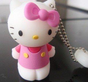 HOT! Hello Kitty USB Flash Drive 64GB,USB Memory Disk,Pen Drive Stick , Pendrives, 2014 New,Free Shipping(China (Mainland))