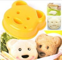 Little Bear Sandwich Bread Mold Maker Molds Sushi Bento Rice Roll Moulds Kitchen DIY Kit