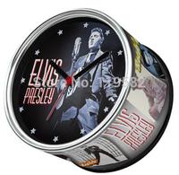 Elvis Presley Singer Star Designs Kitchen Fridge Magnets Cheap Wall Clocks Desk Table Function Clocks 2pcs/Lot Free Shipping