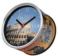 Roma City Design Kitchen Fridge Magnets Wall Clocks Desk Table Function Clocks Free Shipping