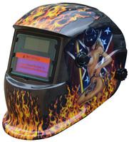 Vivacious Skull Head Flame Solar Auto Darkening Welding Helmet Mask Cap Goggles Tool UV/IR protection Free Shipping