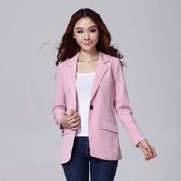 #805#Free Shipping 2014 new fashion women coat high quality slim  lady outerwear office lady blazers