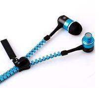 new 3.5mm Stereo  Zipper Earphone Headphone Headset  + Mic Earbuds For iPhone Samsung