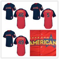 Cheap American League 2014 All Star Baseball Jersey Atlanta Braves 46 Craig Kimbrel 5 Freddie Freeman 49 Teheran Baseball Shirt