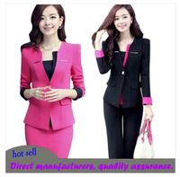 Women business suits formal office suits work  career set piece set work wear suit skirt white collar staff uniforms three-piece
