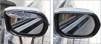 2pcs/Car universal Rain Shield Flexible Peucine Car Rear Guard Rearview mirror Rain Shade for Car styling and Car Accessories