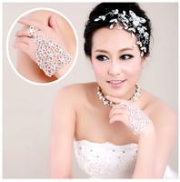 Free Shipping! Wholesale Rhinestone Square Grid Married Bracelet Chain Wedding Bracelet