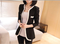 2014 NEW autumn summer slim women pocket cardigan all-match  short jacket female O-neck small suit jacket plus size