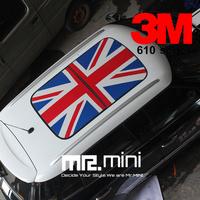 HOT SALE! MINI Vinyl Car Decal Sticker Union Jack  National Flag Car Roof Stickers Garland Mini Swervers