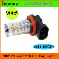 [Free Shipping 2pcs/lot ] 9005 3014  48SMD 10V-30V Pure White 6000k Fog led lamp  Car Fog LED Light