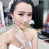 Free Shipping New&Fashion Designs  Handmade Flower Crystal RhinestoneWedding Bracelet Bridal jewelry Vintage style bracelet