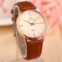 2014 New Women/Men's Watches Personalized retro leather watch new minimalist style lovers quartz watch Wholesale ACZW0031
