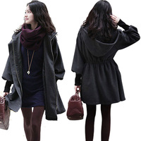 Autumn and winter women's trench plus size clothing sheep cashmere with a hood slim medium-long overcoat woolen outerwear