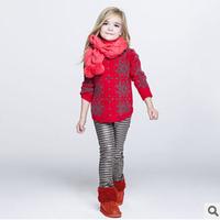 2014 new autunm girls long sweater kids sweater girls fashion cashmere cloth