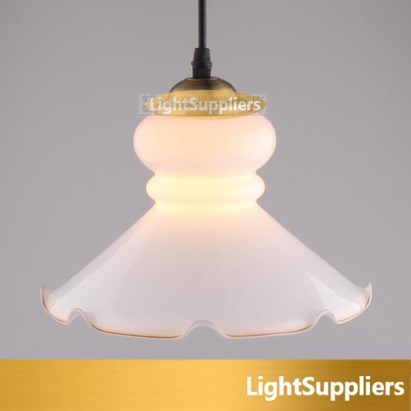 Free shipping modern white lotu pendant lamp single head lamp Fancy vintage roll-up lotus leaf hem glass pendant light(China (Mainland))
