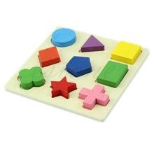 A96 Envío Gratis Niños bebé Aprendizaje de madera juguetes educativos Puzzle Geometría Montessori Early(China (Mainland))