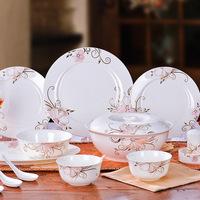 Ceramics quality bone china bowl set dinnerware set 56 wedding gifts