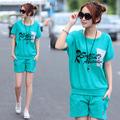 ON SALE! 2014 fashion batwing shirt t-shirt shorts women's sportswear set summer casual set