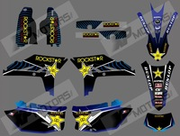 0507 BULE STAR  NEW STYLE TEAM GRAPHICS BACKGROUNDS DECALS FOR YAMAHA WR450F WRF450 2012 2013 2014