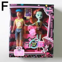 Monster Dolls Set Draculaura Clawdeen Wolf Abbey Bominable Frankie Stein Clawd Wolf Monster Girl Boy Dolls Toy