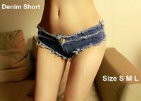 2014 New Summer Sexy Denim Shorts Women Tassel Mini Low Waist Jeans Shorts Ladies Fashion Solid Skinny Beach Short Pant Female