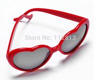 Free Shipping women Heart Shape, Stylish Trendy fashion Sunglasses For Party,Peach heart sunglasses,holiday glasses
