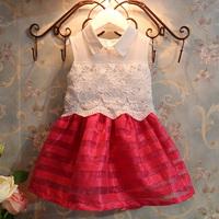 New 2014 Summer Kids Clothes Vestidos De Menina Fantasia Infantil Casual Girls Dress Crochet Lace Children Princess Dresses