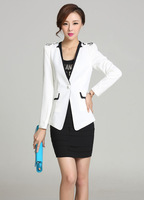 #834#Free Shipping 2014 new arrival spring fashion women coat single button slim outerwear