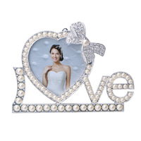 Sanmu 443-33F LOVE Lettle Pearl Photo Frame - White