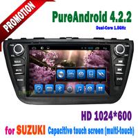 GPS Navigation 3G WIFI Bluetooth 100% Android Radio car dvd player for Suzuki SX4  2014