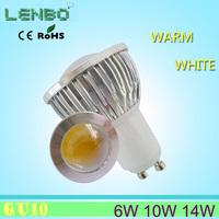 AC 220V B22/GU10/E14/E27 COB 6W 10W LED Bulb lamp Warm White/ white, spot light,4pcs/lot