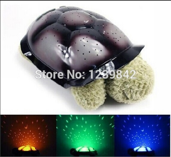 5Pcs New Night Light Turtle Night Sky Toy Lamp for Kids Full Night Sky Projection Free Shipping(China (Mainland))