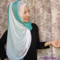 OUMEINA muslim lady scarf wholesale Clothing scarf bandanas hijab tapestry blue white peach chiffon fabric patchwork RG10