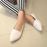 Spring women's soft shoes genuine leather pointed toe shallow mouth shoes /candy color four seasons shoes
