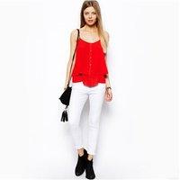 2014 New Fashion Tops Summer Chiffon Blouses Single-Breasted Women's Slim Blouse CS4487