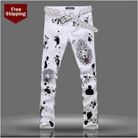 2014 New Summer Trend Of Men's Korean Version Of The Thin Section Men's Jeans Male Man Pants Stretch Pants Slim Feet